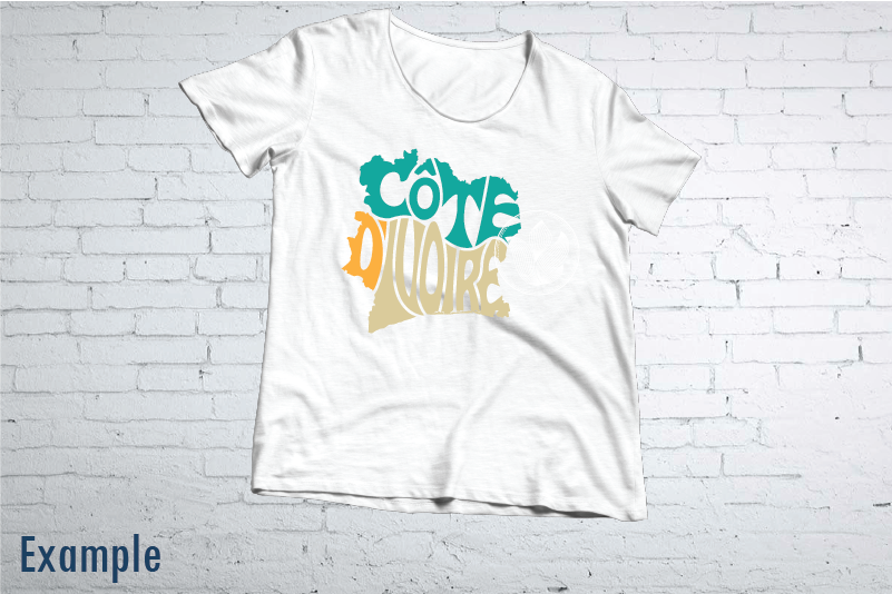 Cote D Ivoire Word Art Svg Dxf Eps Png Jpg Words In Map Shape By