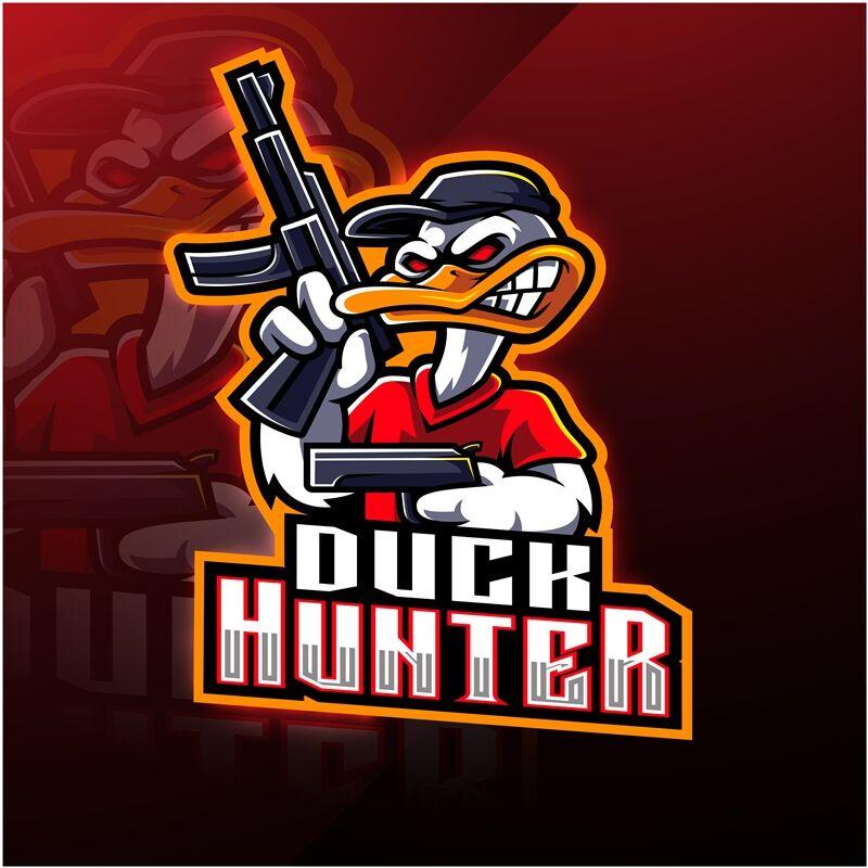Duck Hunter Esport Mascot Logo Design By Visink Thehungryjpeg Com