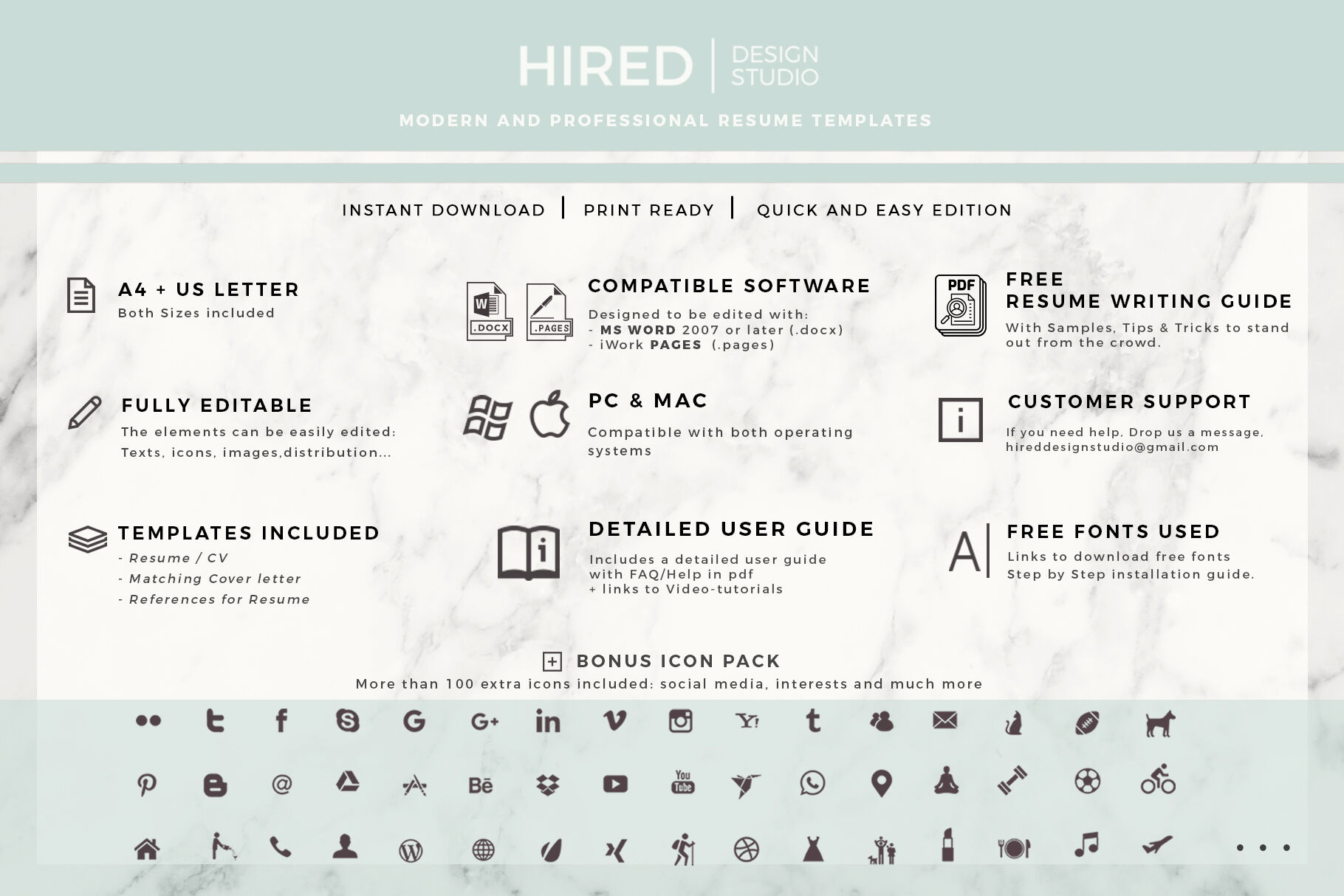 Biodata Template For Ms Word Pages Sales Manager Modern Resume