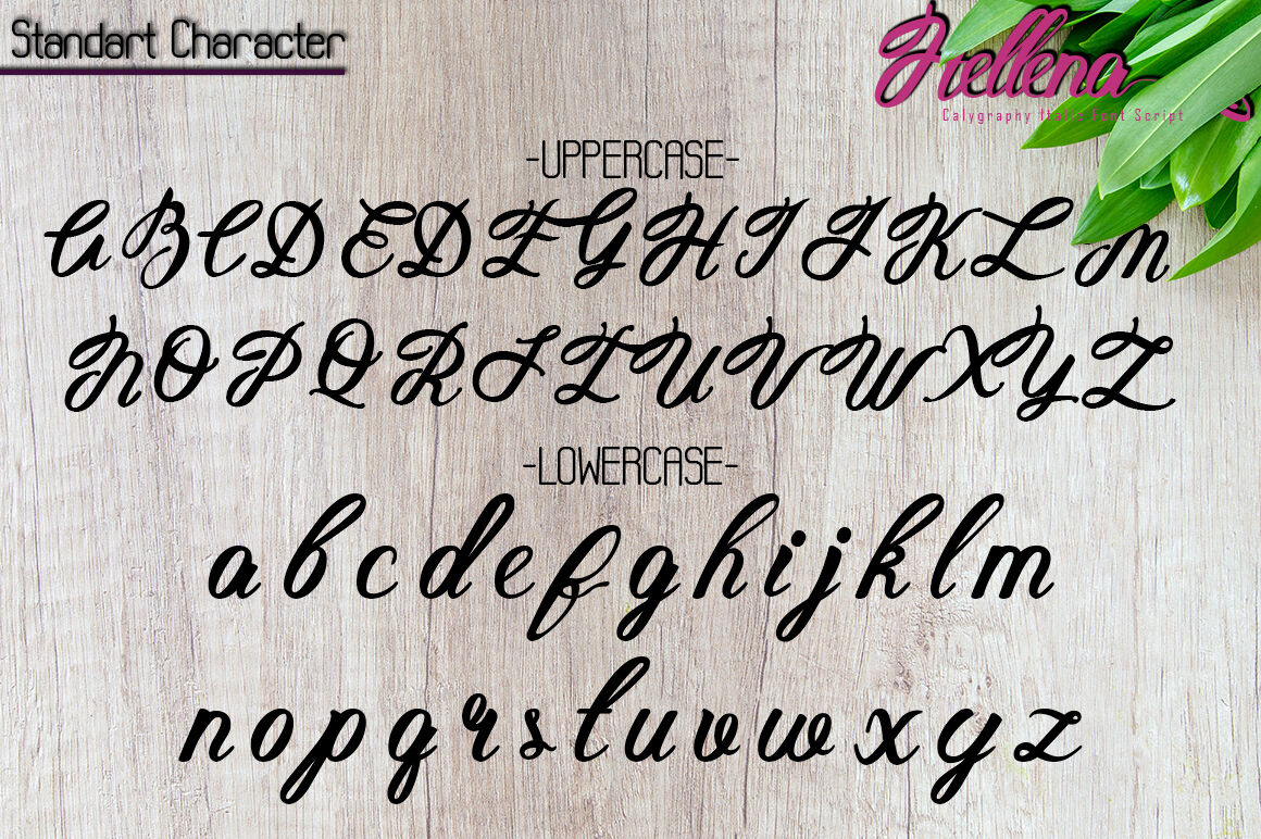 Hellena Italic Calligraphy Italic Font Script By Green Adventure