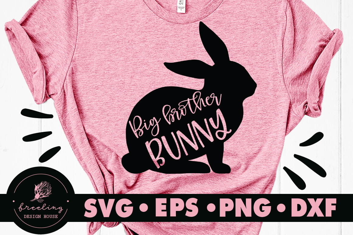 Big Brother Bunny Easter Svg By Freeling Design House