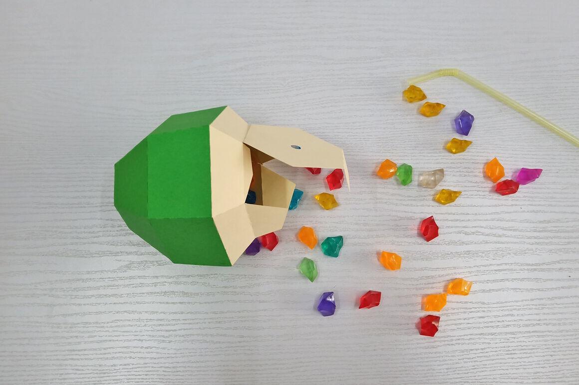 Diy Coconut Favor 3d Papercraft By Paper Amaze Thehungryjpeg Com