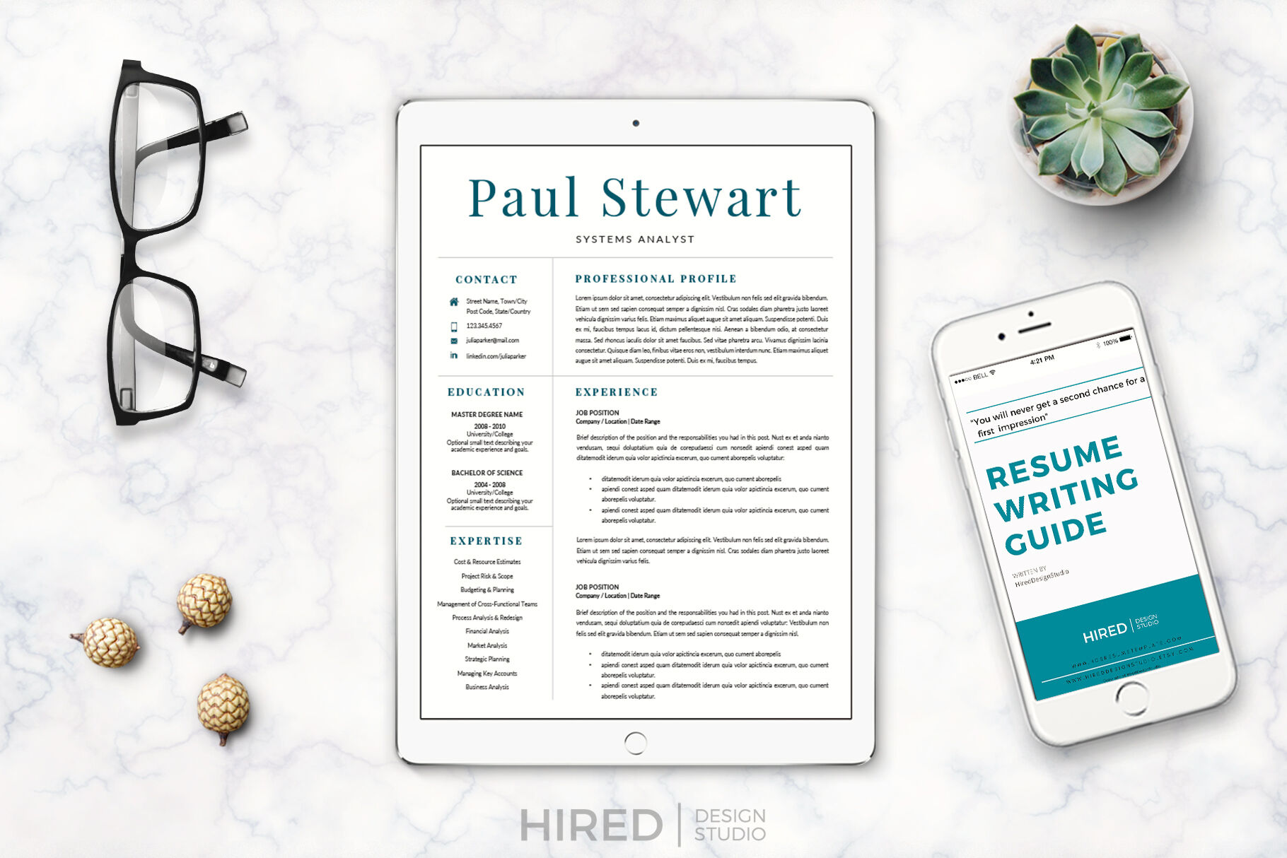 Professional Cover Letter and 2 Column Resume with ...