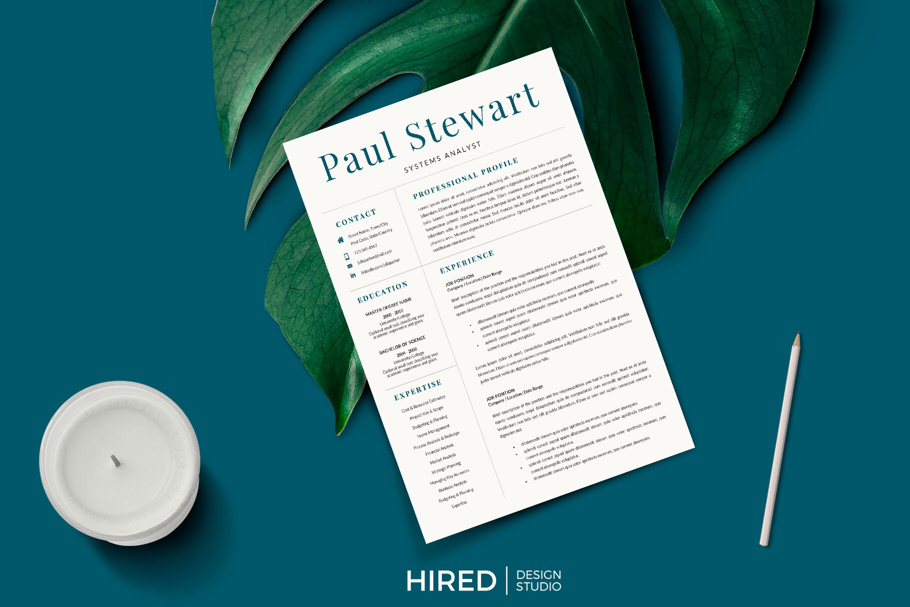 professional cover letter and 2 column resume with references page  by hiredds