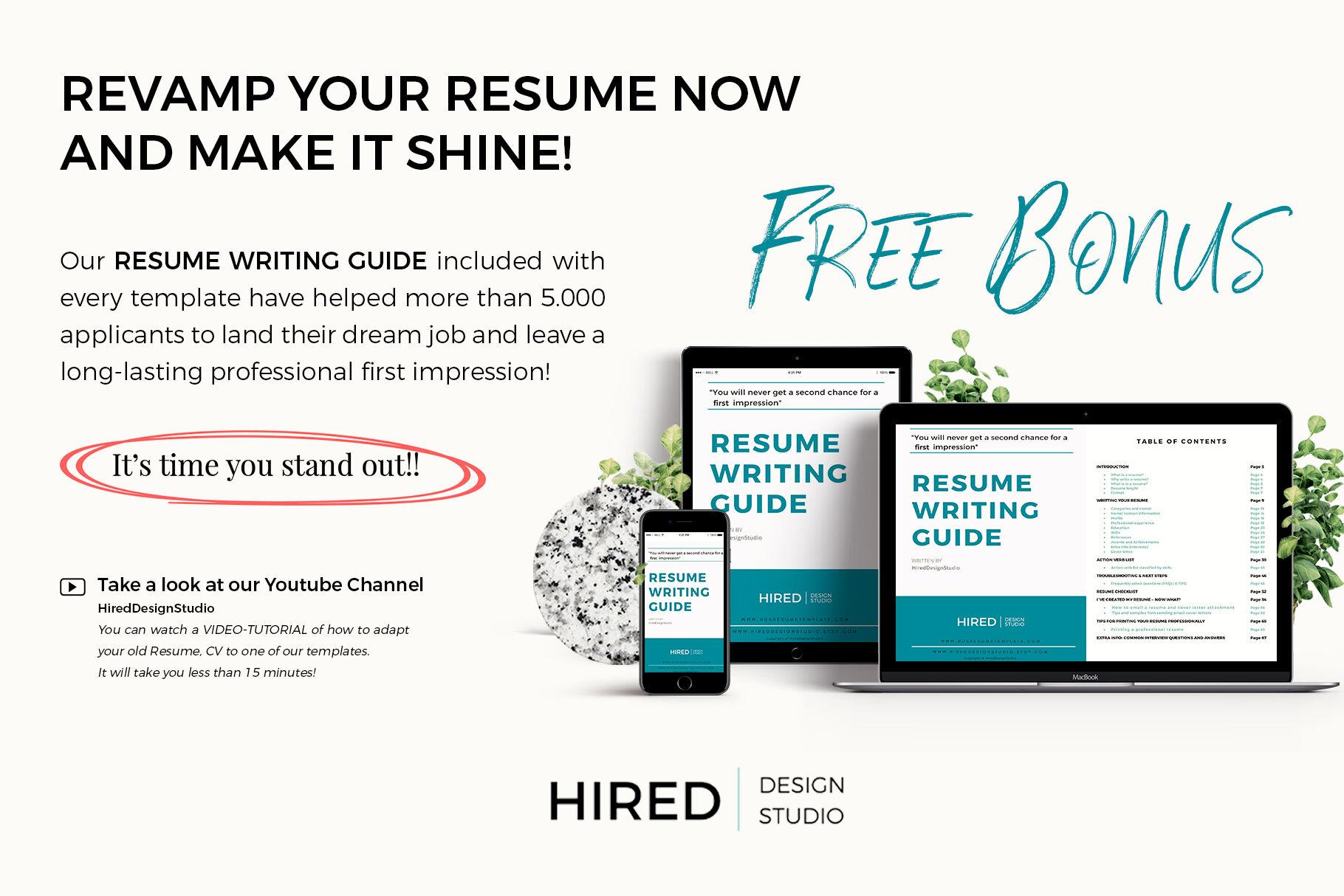 marketing director resume  creative  u0026 modern cv   free bonus bundle by hiredds