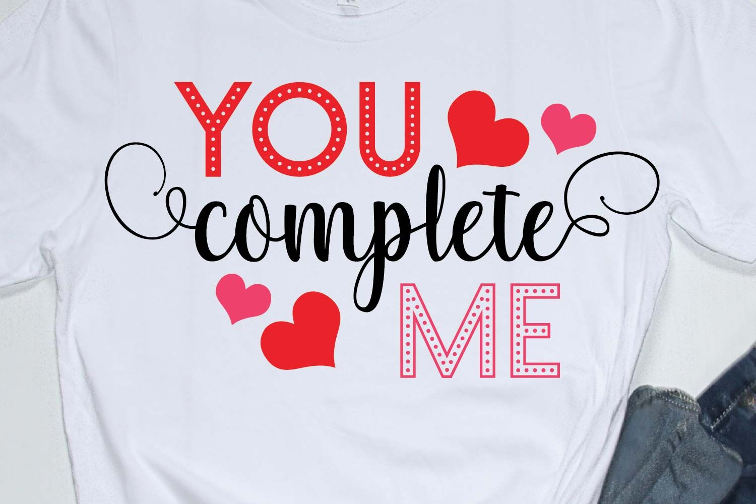 Happy Valentines Day Quote Svg You Complete Me By Yamini