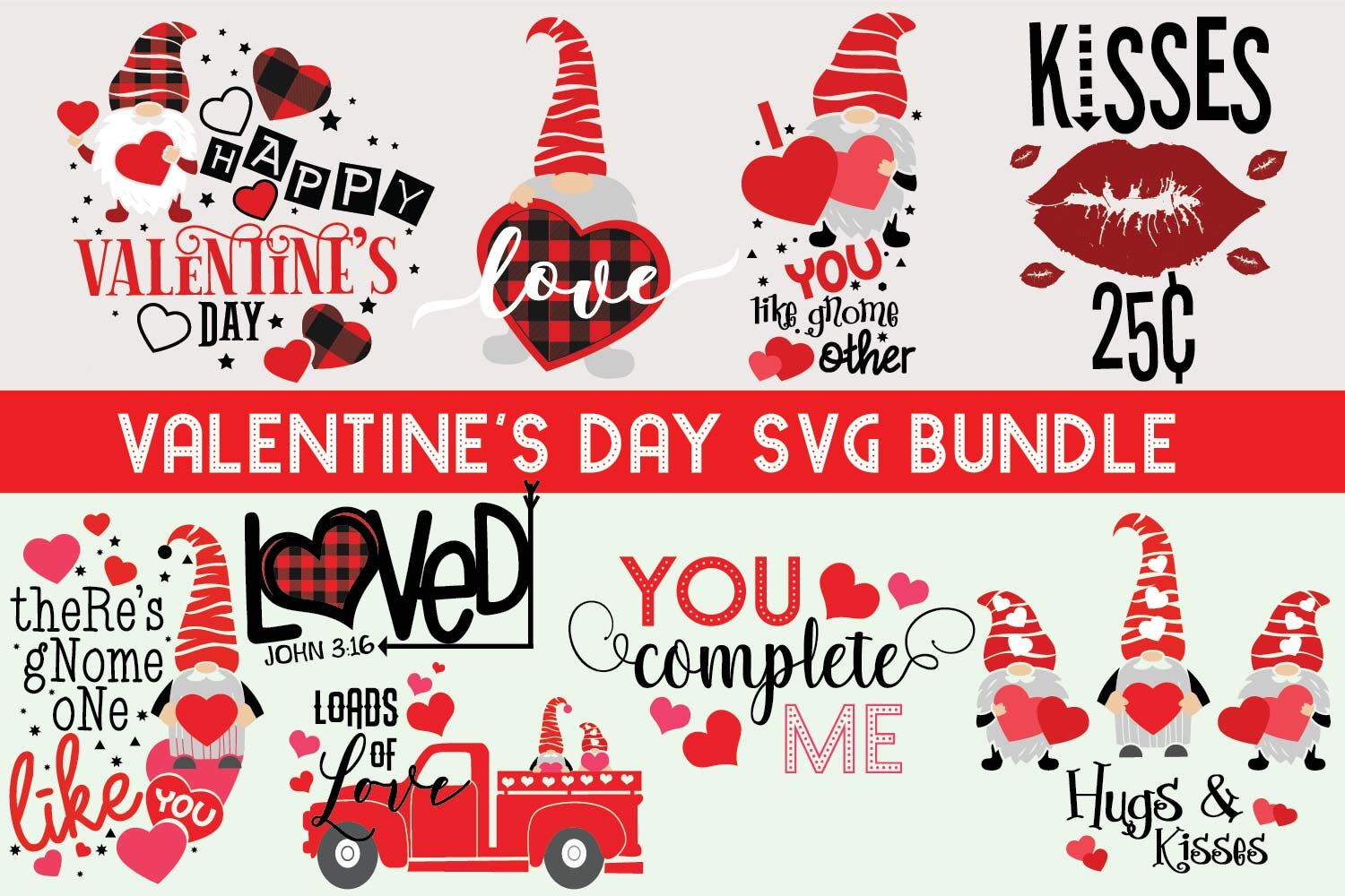 Happy Valentines Day Quotes Bundle Svg By Yamini Thehungryjpeg Com