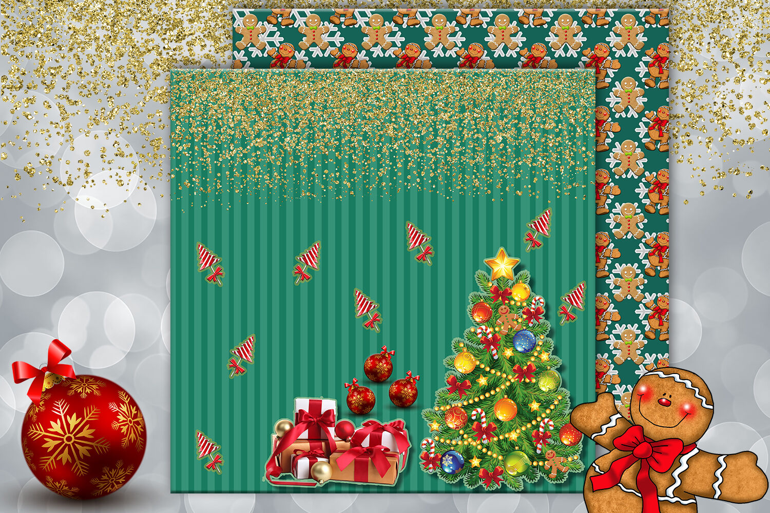 Christmas Scrapbook Paper Christmas Printable Christmas Card