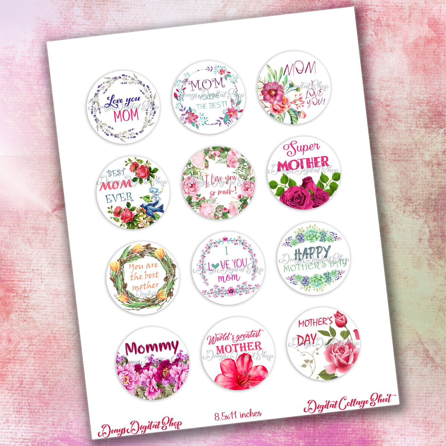 Mothers Day Happy Mother S Day Digital Collage Sheet By