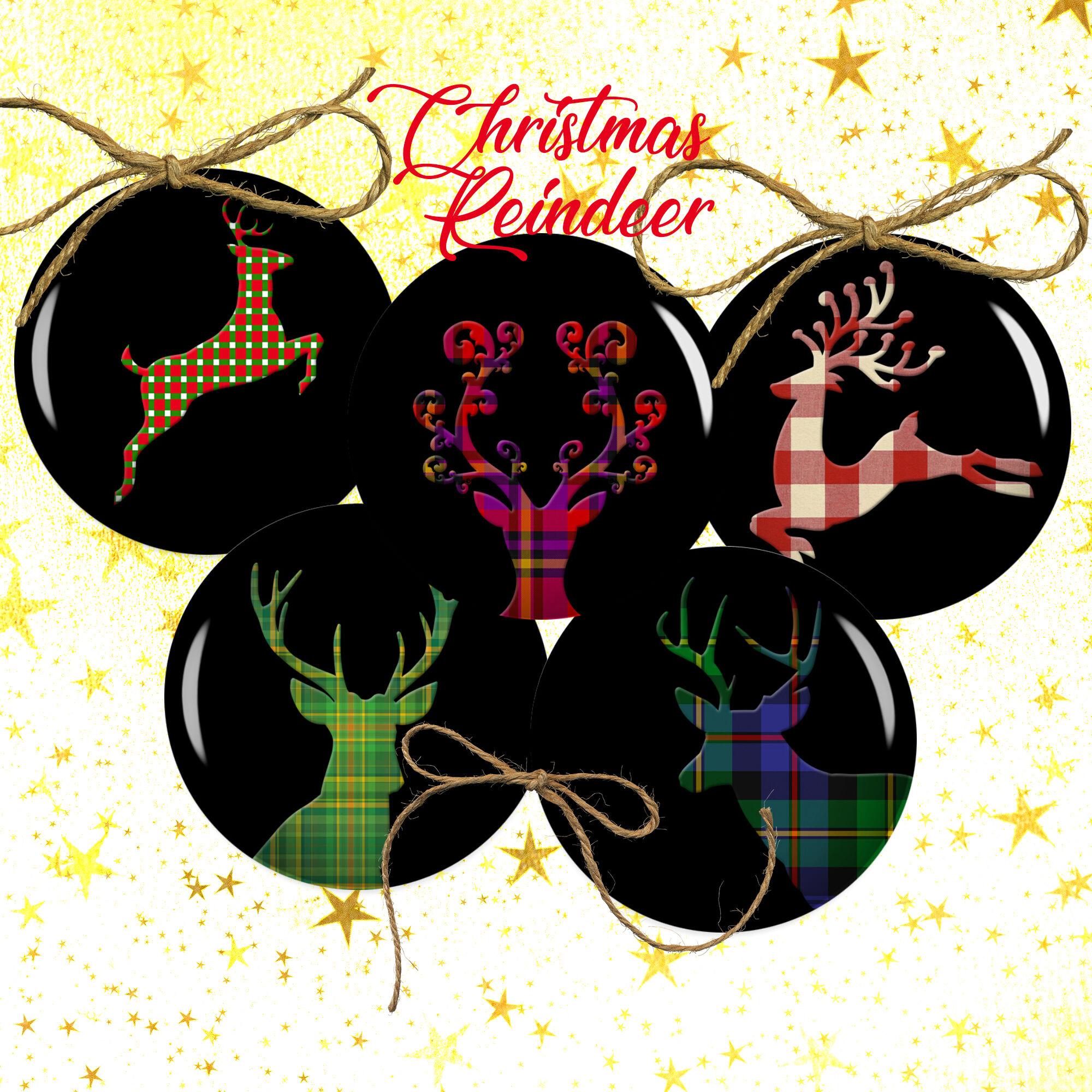 Christmas Reindeer Buffalo Reindeer By Denysdigitalshop