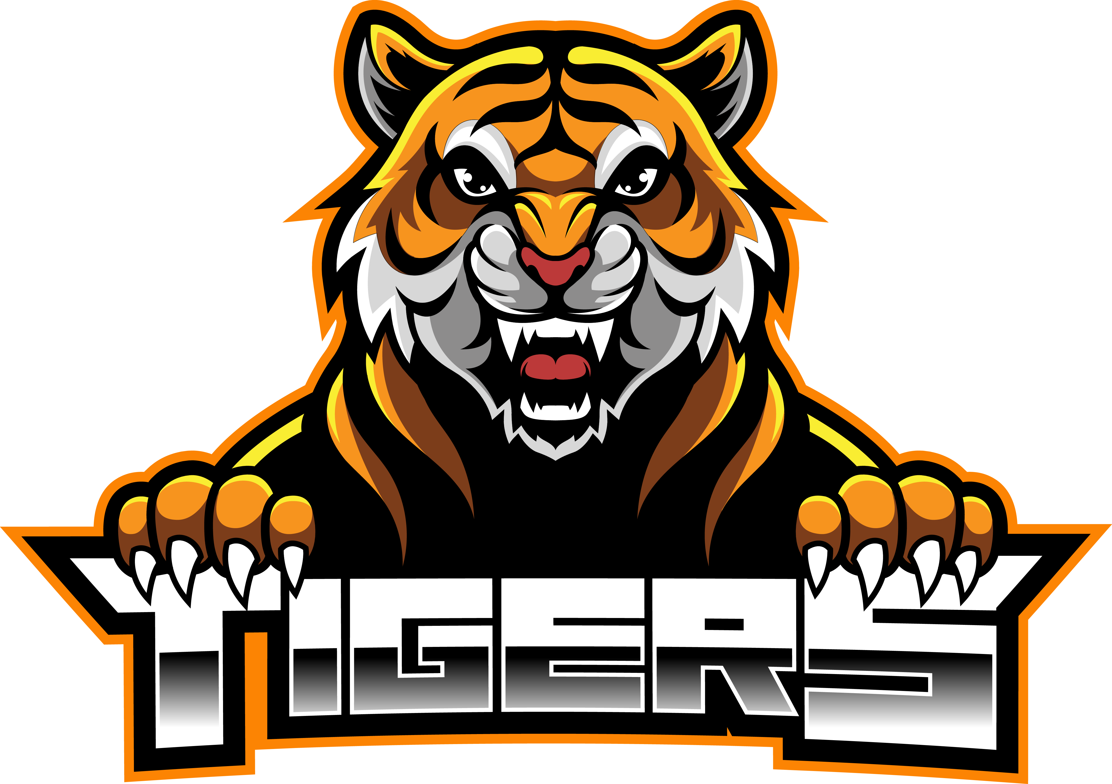 tiger face esport mascot logo design by visink thehungryjpeg com tiger face esport mascot logo design by