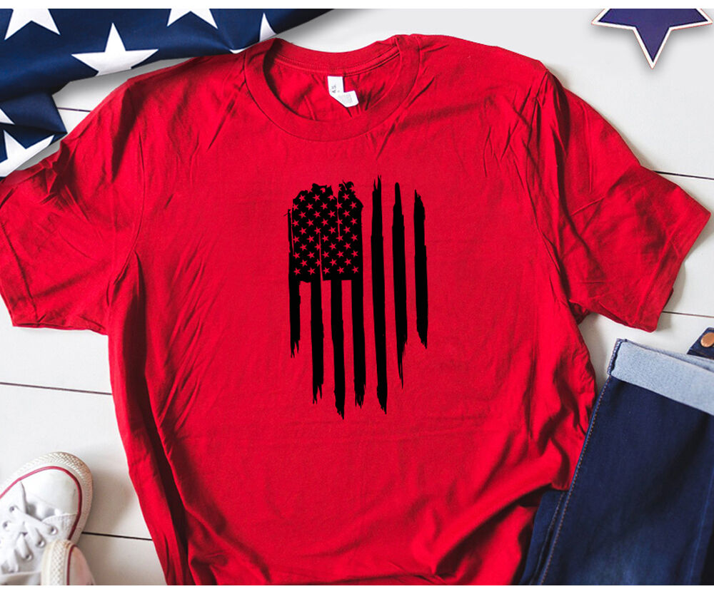 American Flag Distress Vertical Svg For America Tshirt By