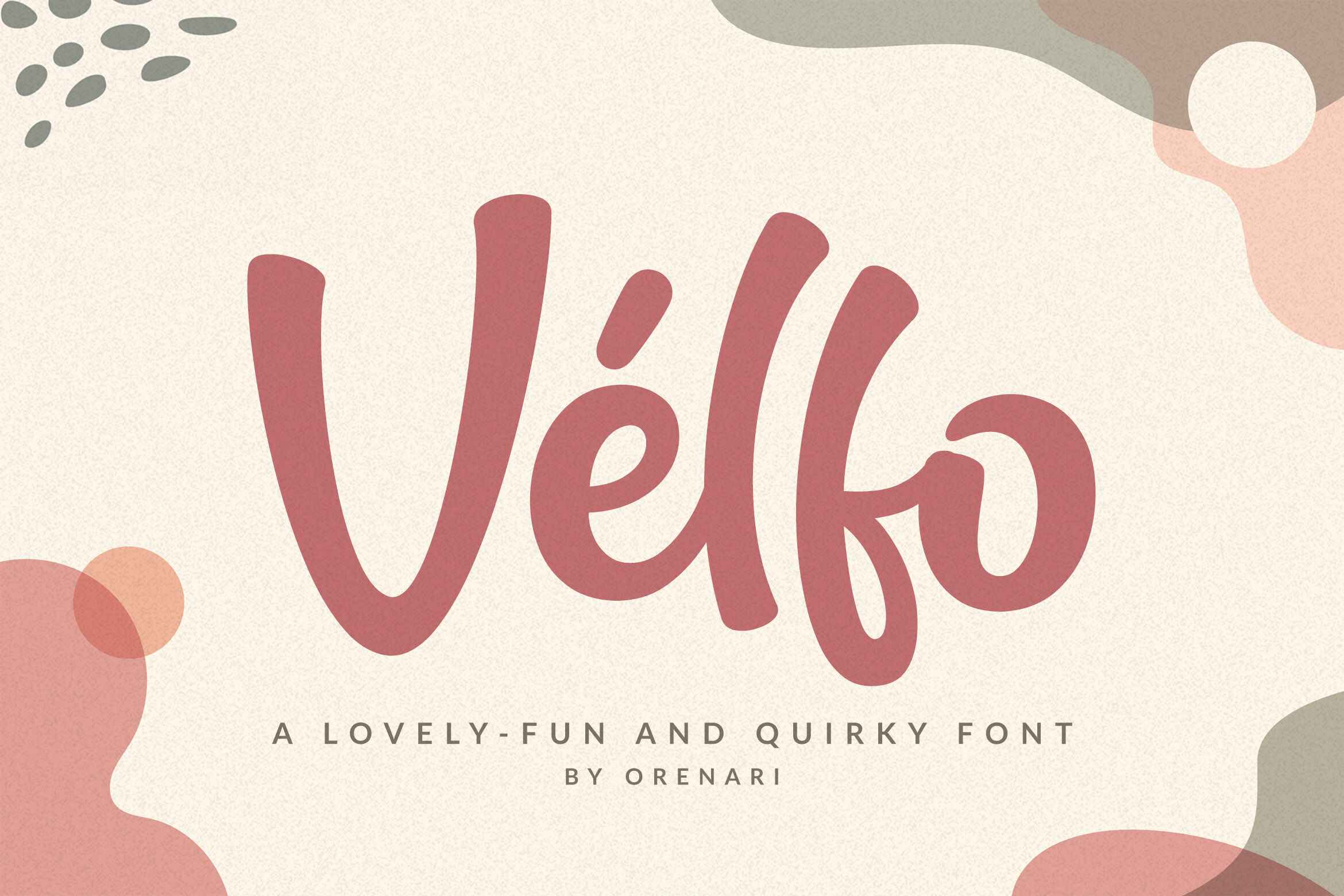 Velfo A Lovely Fun And Quirky Font By Orenari Thehungryjpeg Com