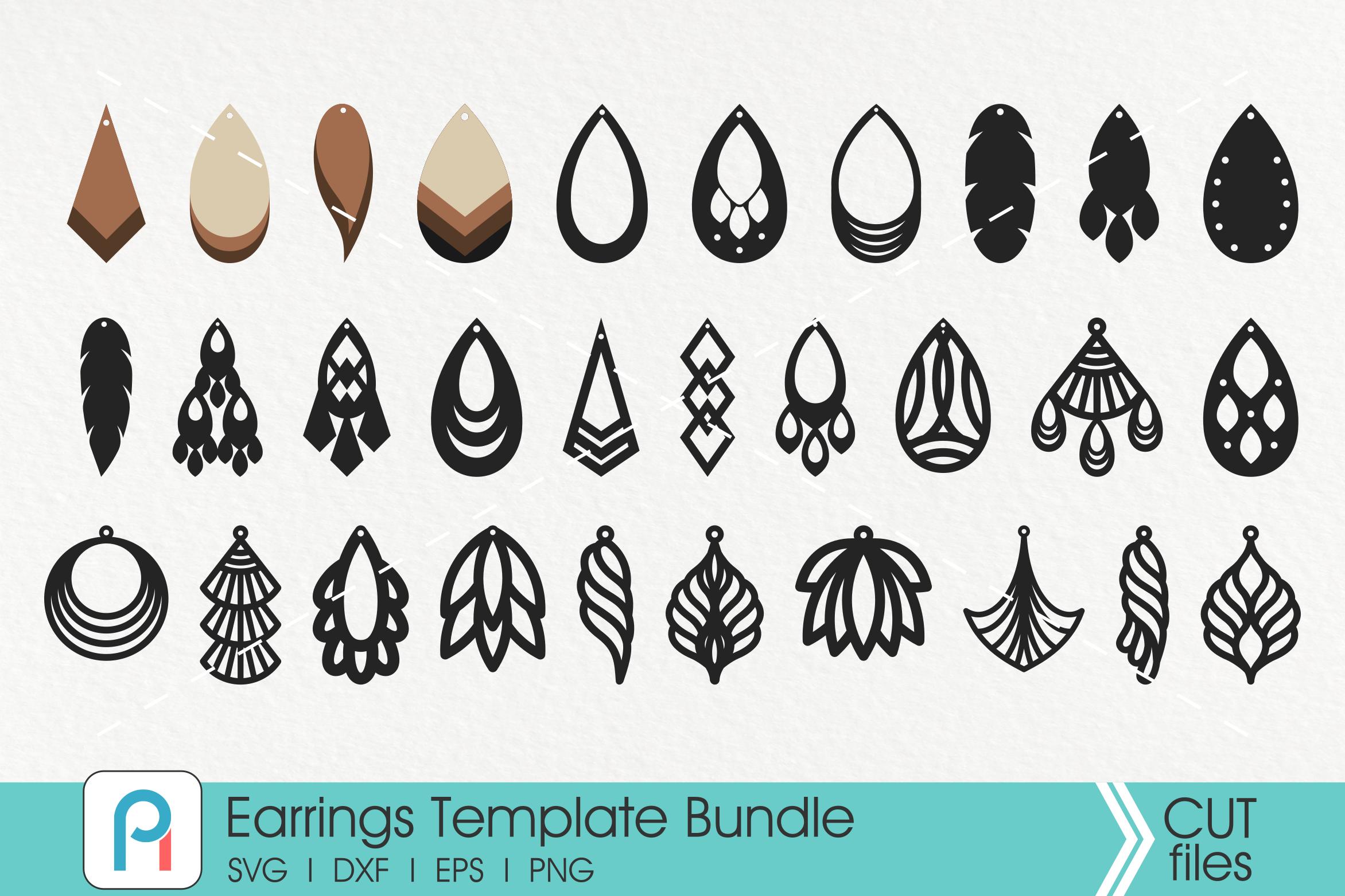 Earrings Svg Earrings Template Svg Faux Leather Earrings Svg By