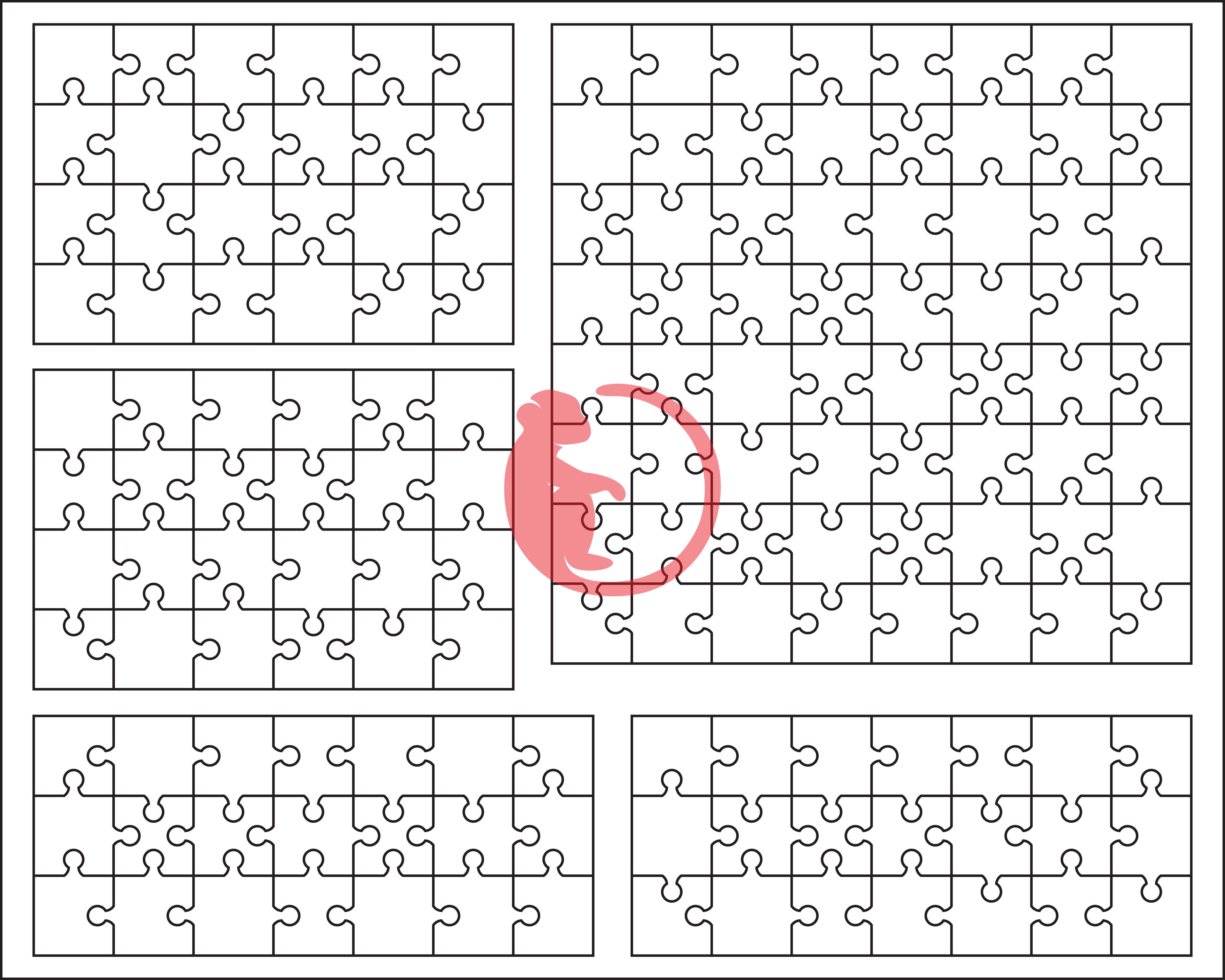 White Puzzle Pack All Puzzles Separated Svg Dxf Png Eps And