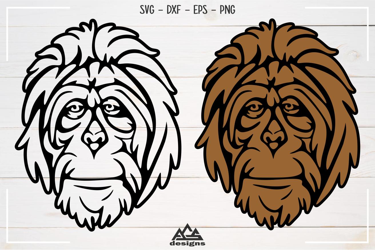 Orang Utan Primata Svg Design By Agsdesign Thehungryjpeg Com