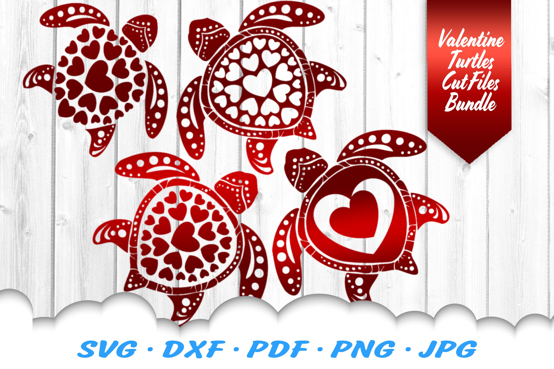 Valentines Sea Turtle Heart Mandala Svg Dxf Cut Files Bundle By