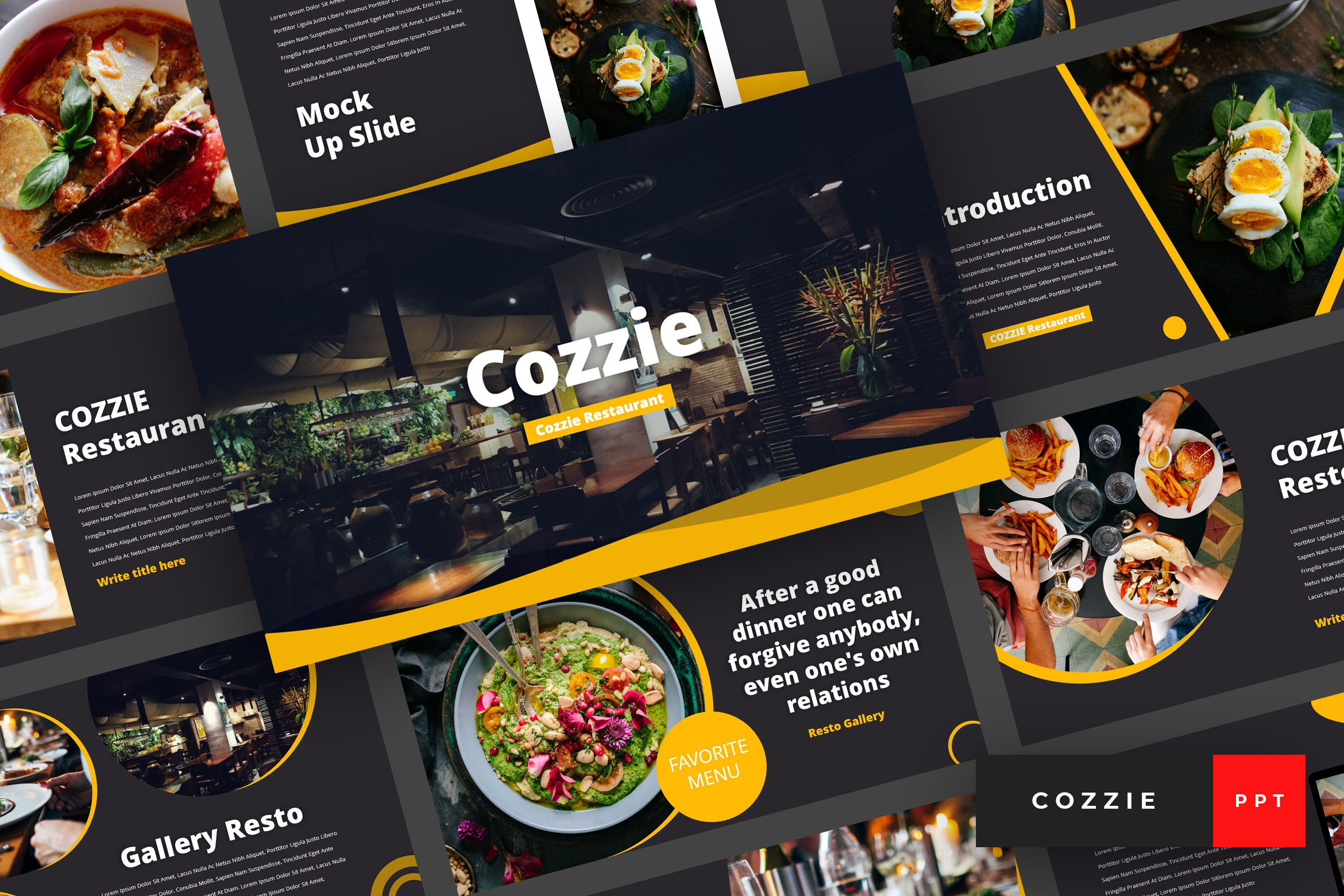 Cozzie Restaurant Powerpoint Template By Stringlabs