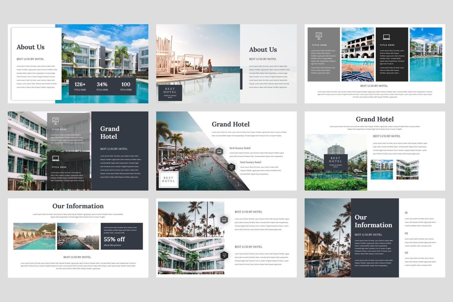 Grand Hotel Powerpoint Template By Stringlabs Thehungryjpeg Com