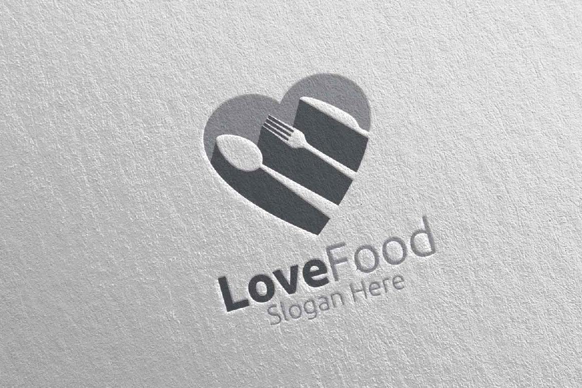 Love Healthy Food Logo For Restaurant Or Cafe 1 By Denayunethj Thehungryjpeg Com