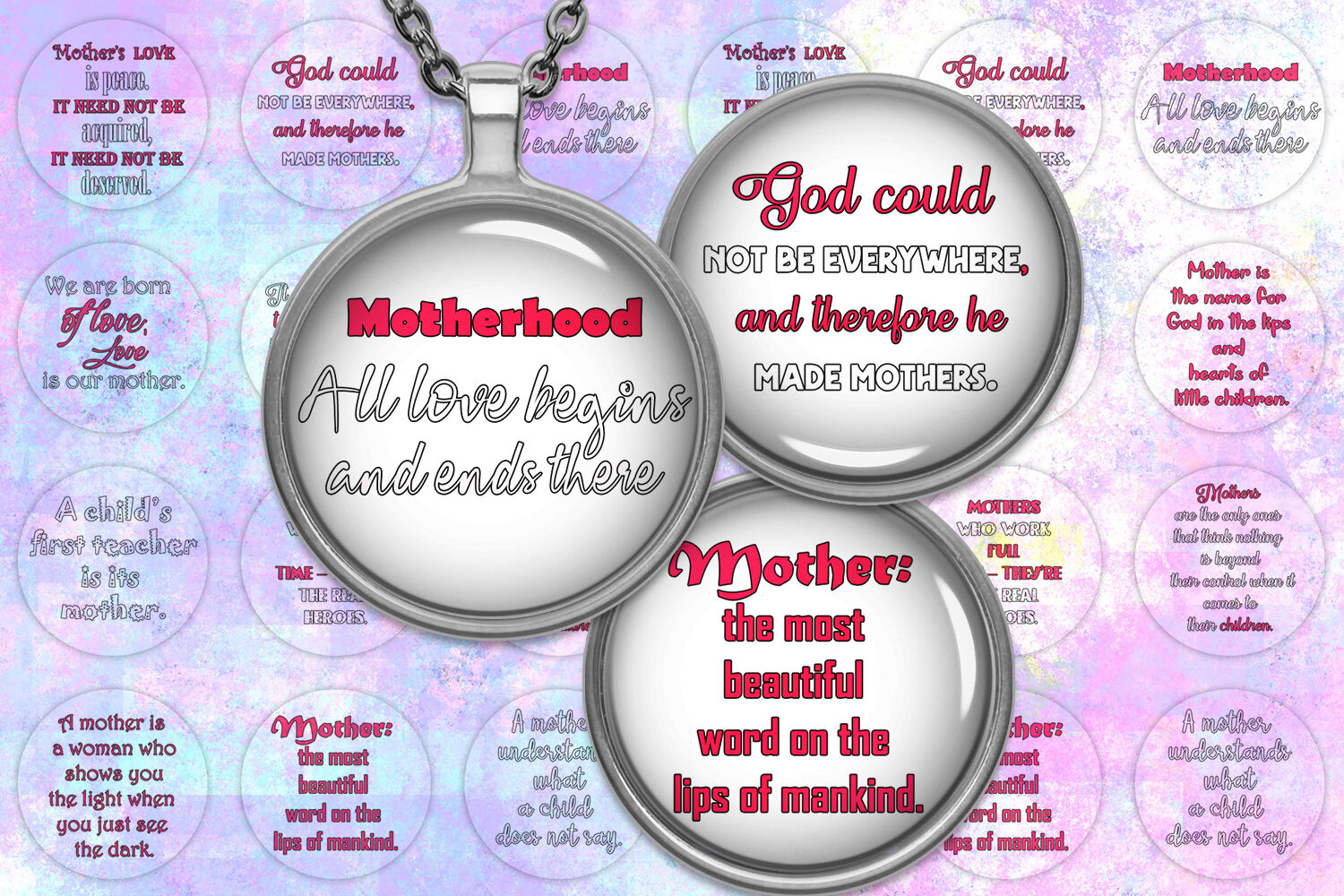 Quotes Digital Collage Sheet Mother Day By Denysdigitalshop