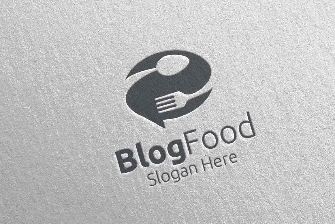 Blog Healthy Food Logo For Restaurant Or Cafe 10 By Denayunethj Thehungryjpeg Com