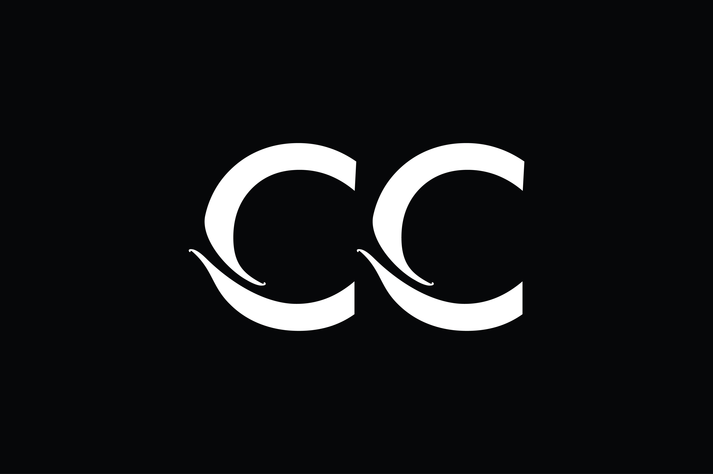 Cc Monogram Logo Design By Vectorseller Thehungryjpeg Com