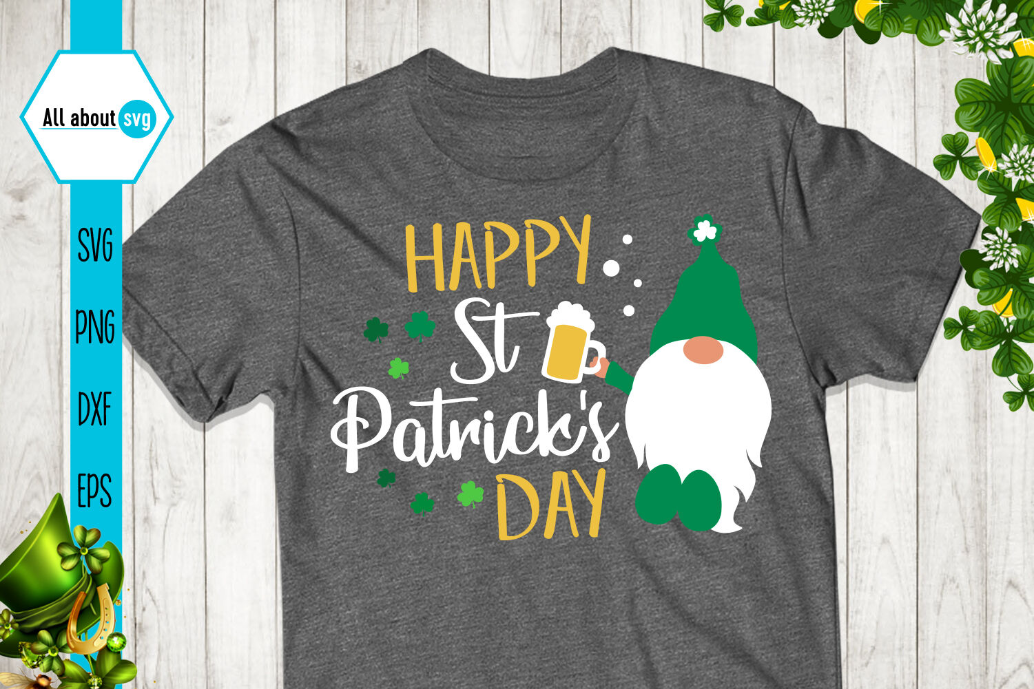 Happy St Patricks Day Svg Gnome Svg By All About Svg