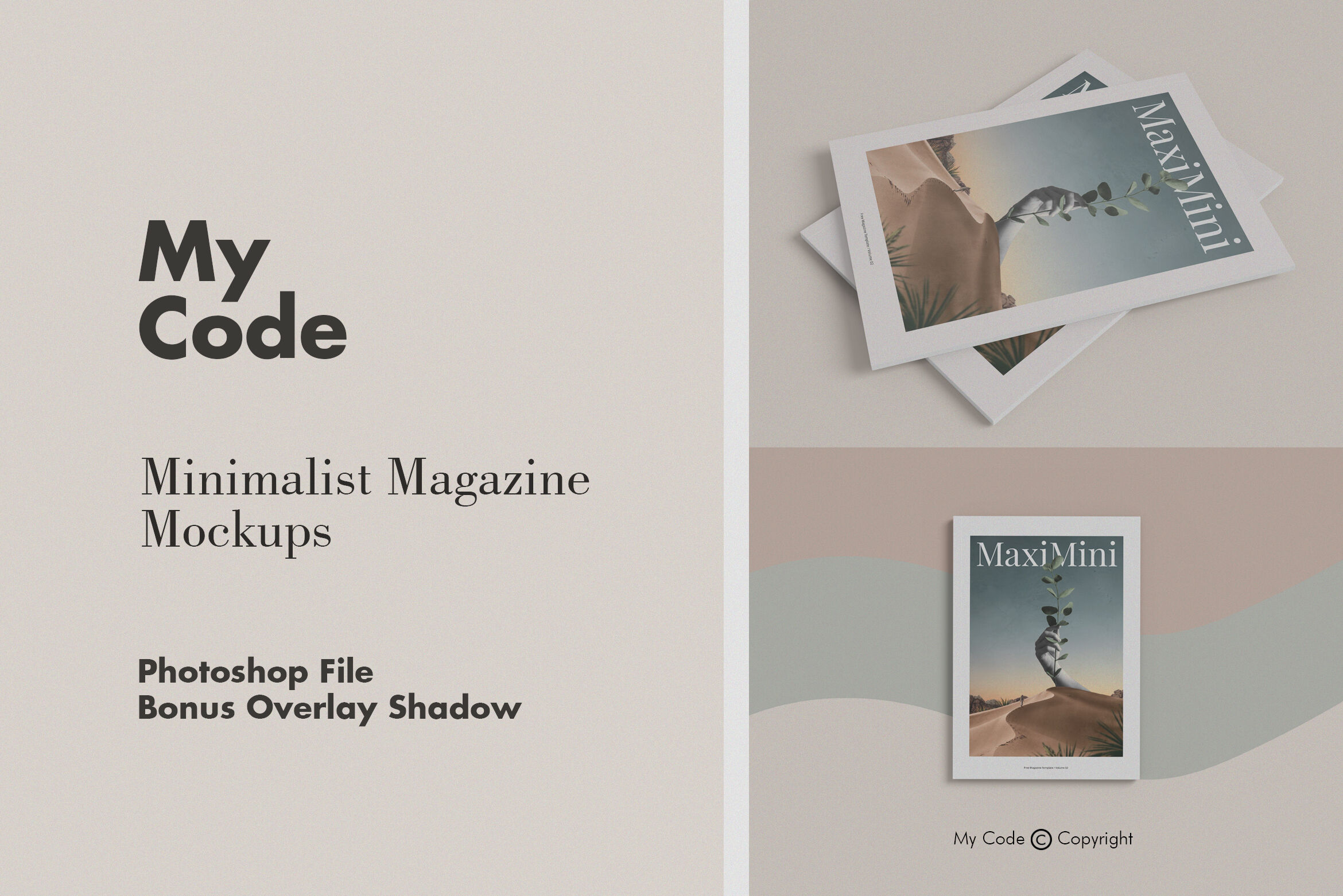 Download A4 Magazine Cover Mockup Psd Yellowimages