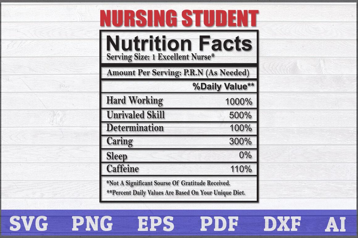 Nursing Student Nutrition Fact Svg Nurse Svg Nurse Nutrition By