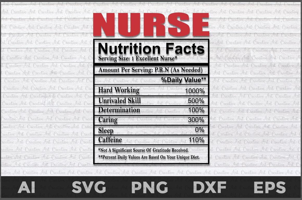 Nurse Nutritions Facts Svg Nurse Nutrition Nurse Svg By Creative