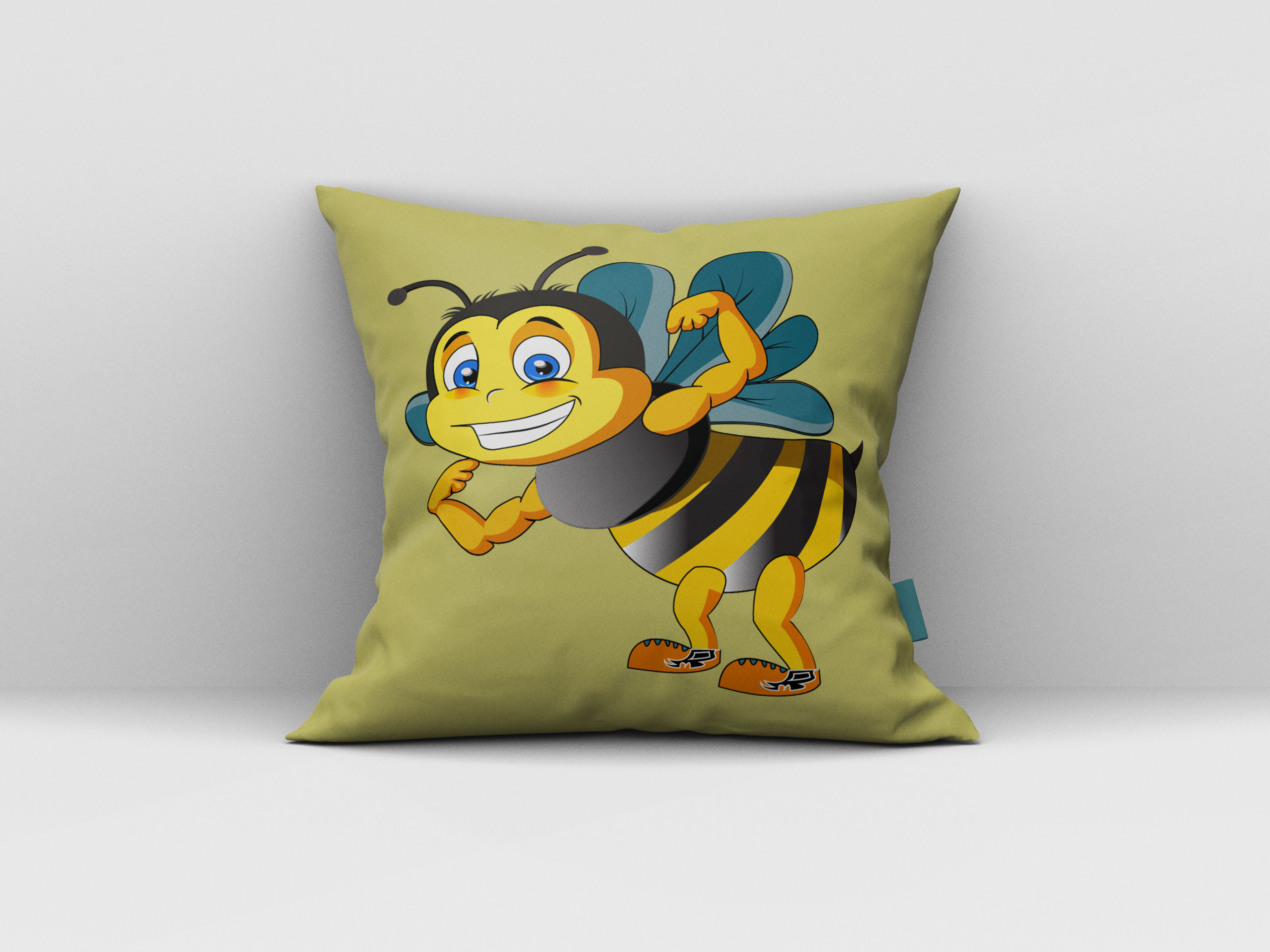 Strong Bee Cartoon Vector Illustration Bee Svg Bee By Creative