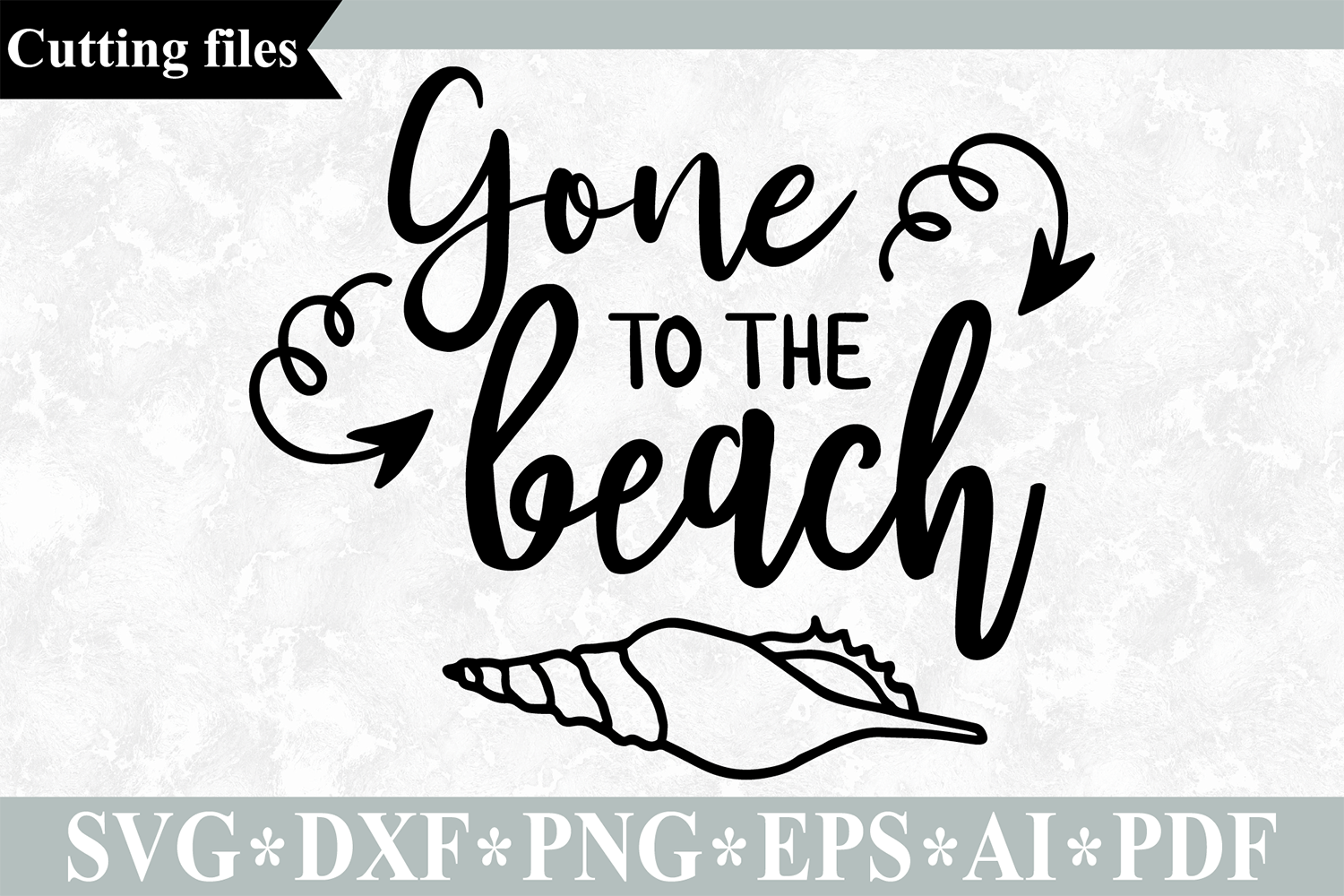 Gone To The Beach Svg Cut File Summer Svg Beach Svg By Vr