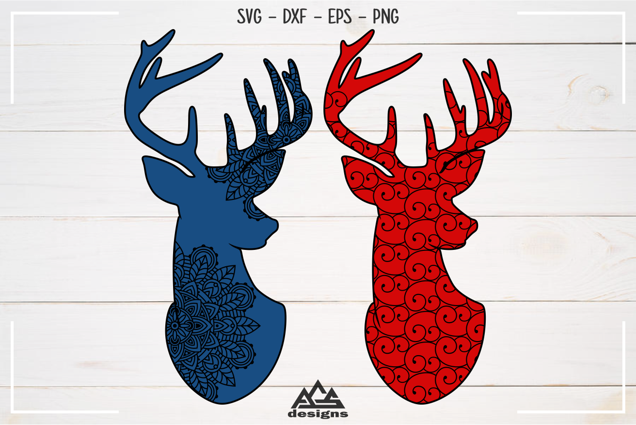 Deer Reindeer With Pattern Svg Design By Agsdesign Thehungryjpeg Com