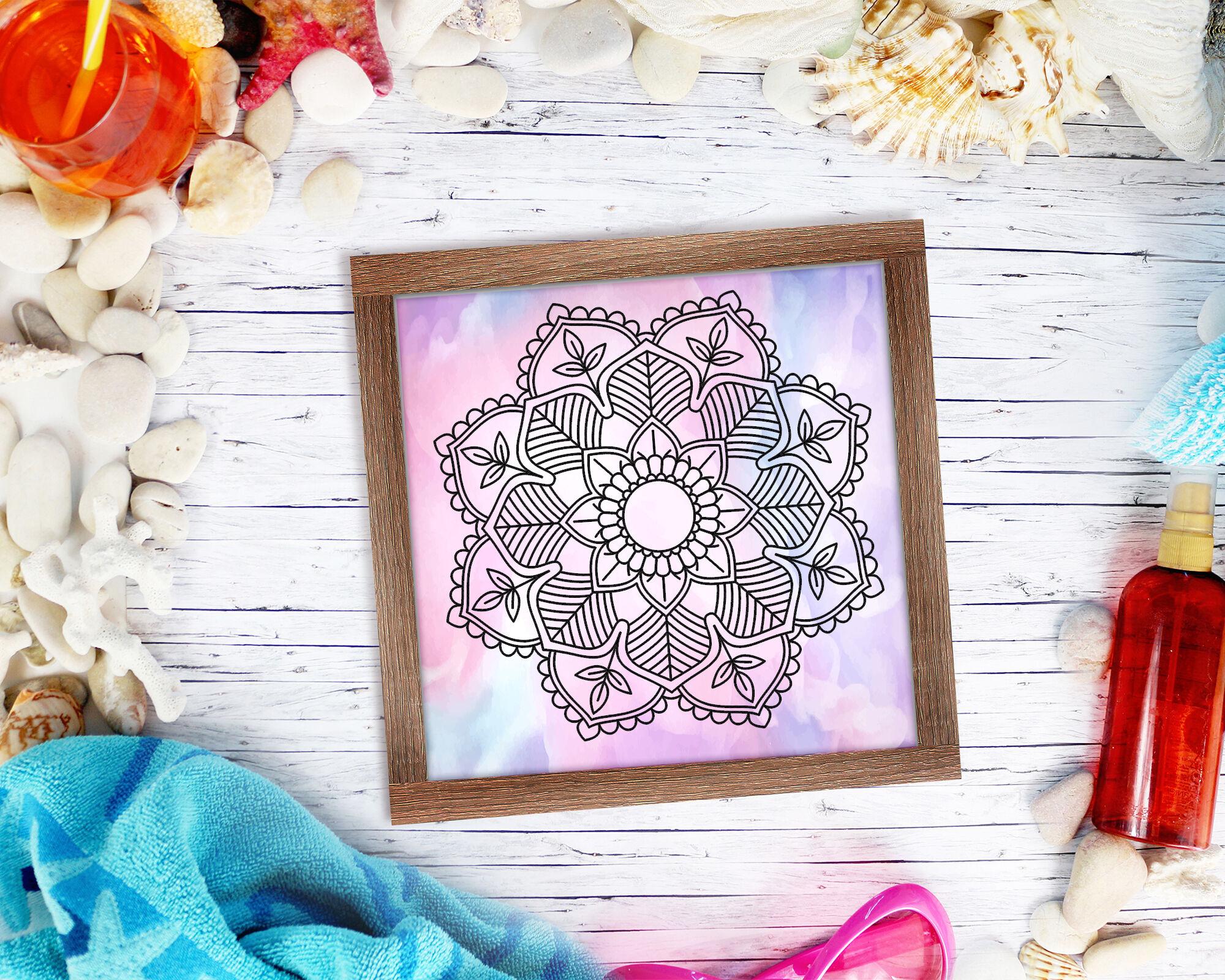 Mandala Flower Pattern 08 By Mandala Creator Thehungryjpeg Com