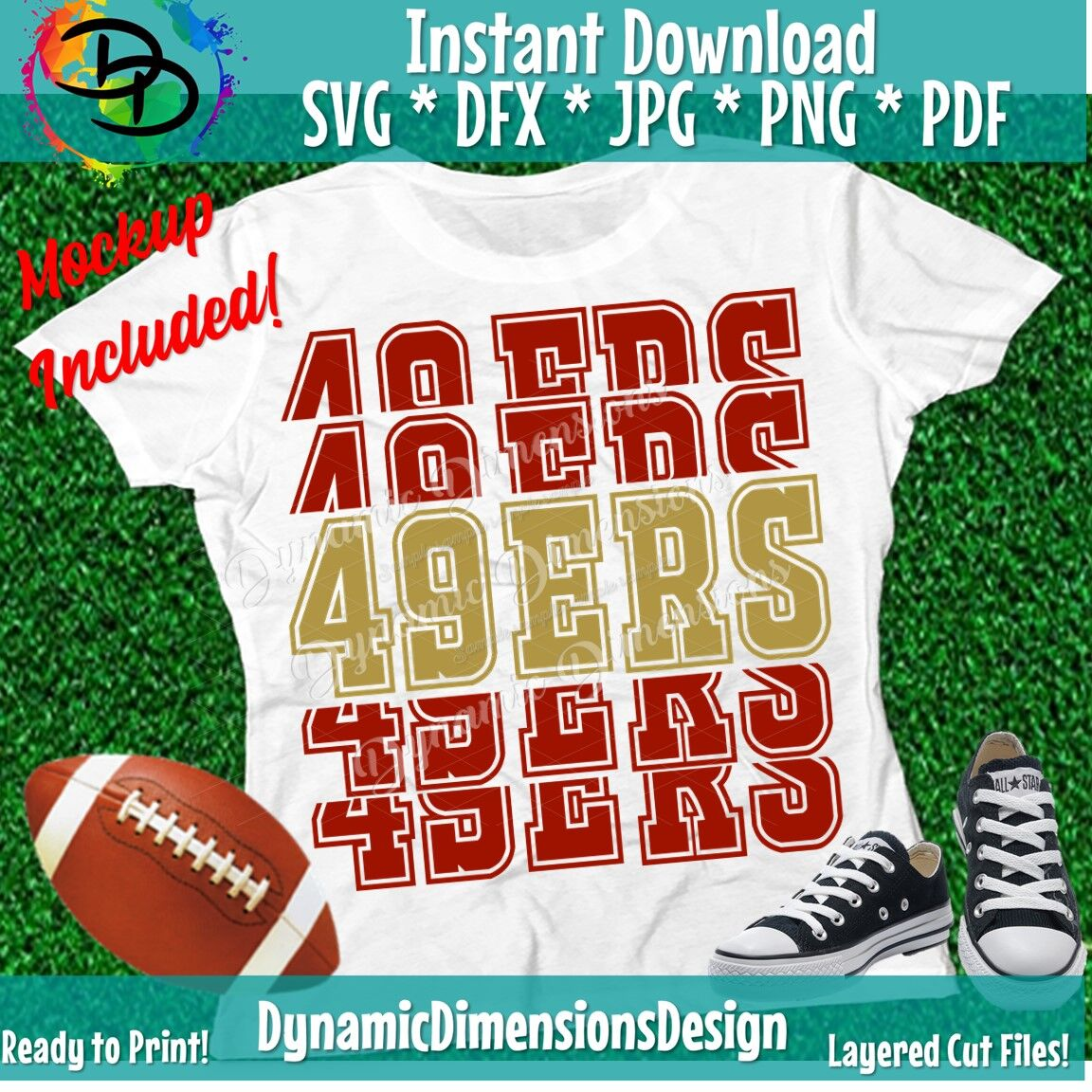 49ers Svg 49ers Shirt Svg Svg 49ers Svg 49ers Football Volleyba By Dynamic Dimensions Thehungryjpeg Com