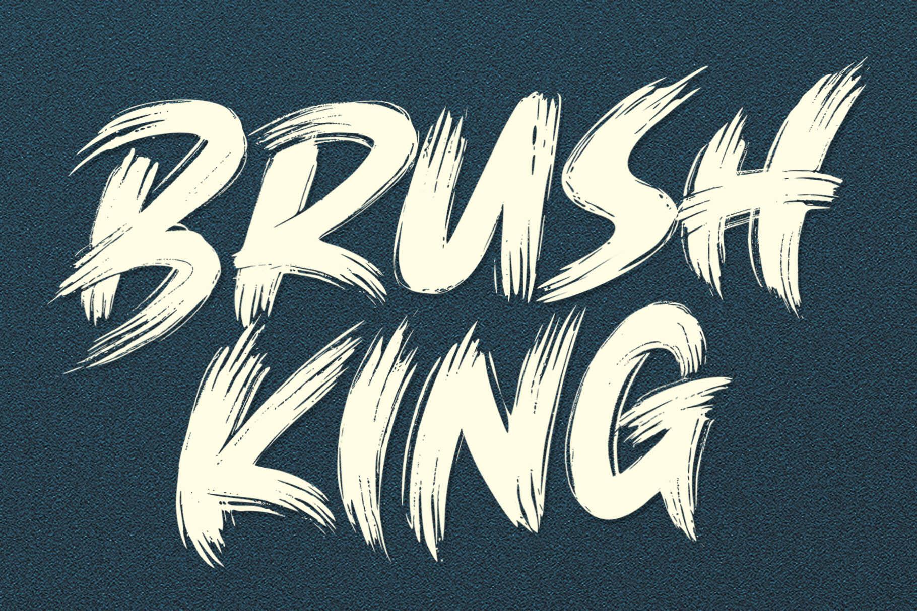 Brush King Brush Font By Subectype Thehungryjpeg Com
