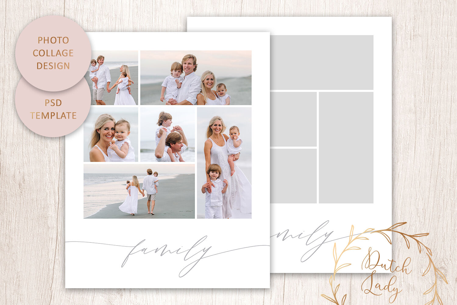 Psd Photo Collage Template 7 By The Dutch Lady Designs
