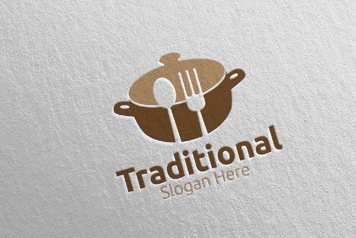Traditional Food Logo For Restaurant Or Cafe 33 By Denayunethj Thehungryjpeg Com