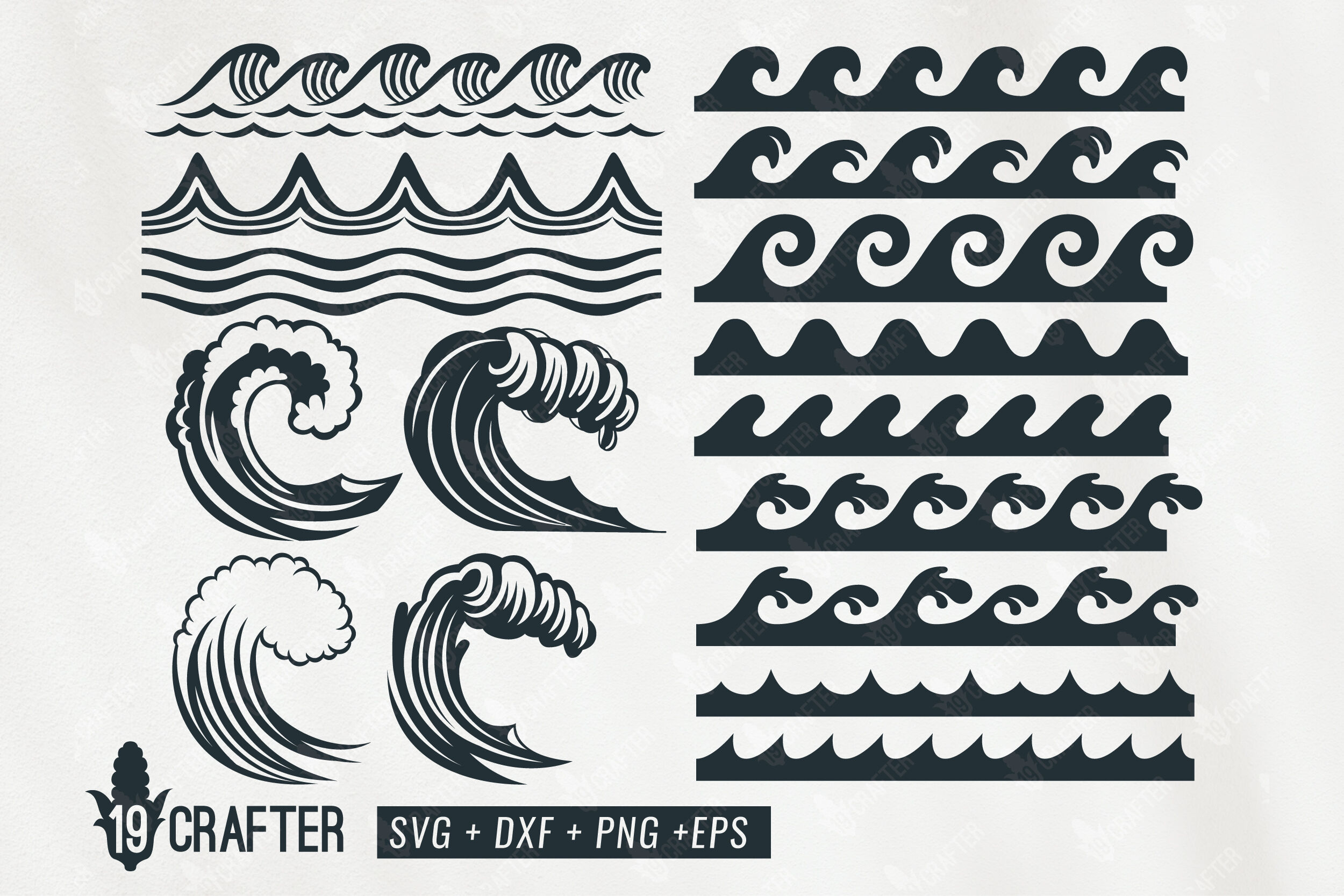 Ocean Wave Set Svg Bundle By Greatype19 Thehungryjpeg Com