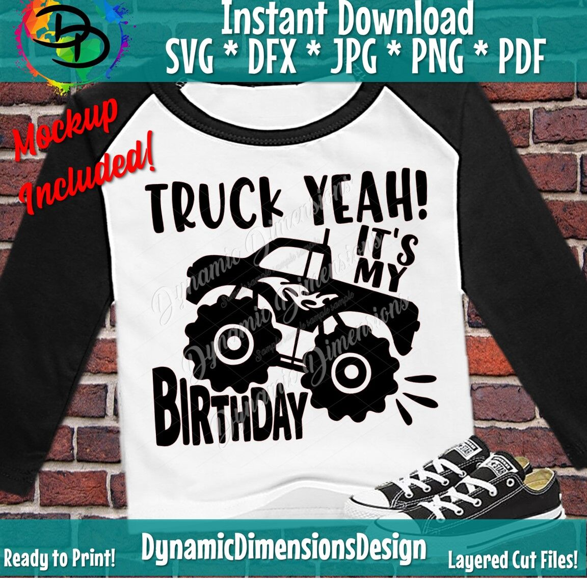 Truck Yeah Svg Birthday Boy Birthday Boy Birthday Svg Monster