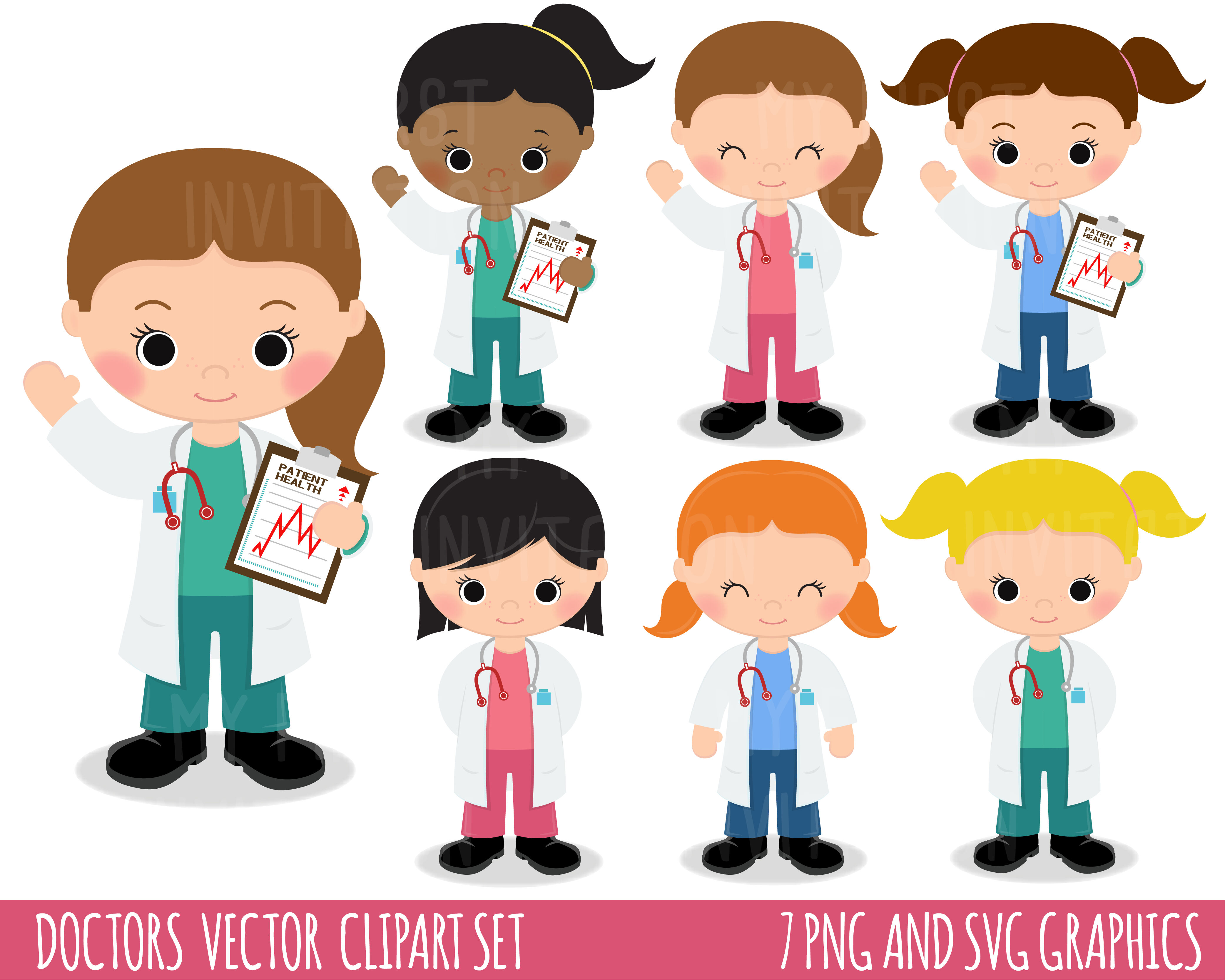 Doctors Clipart Nurses Clipart Medical Clipart By My First