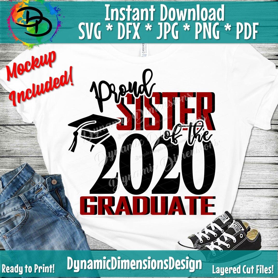 Proud Of A 2020 Graduate Proud Sister Family Of A 2020 Graduate