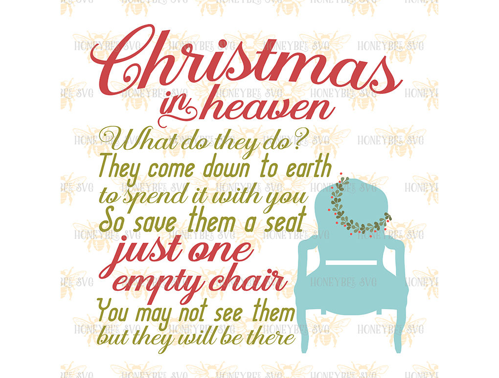 Christmas In Heaven Chair.Christmas In Heaven Chair By Honeybee Svg Thehungryjpeg Com