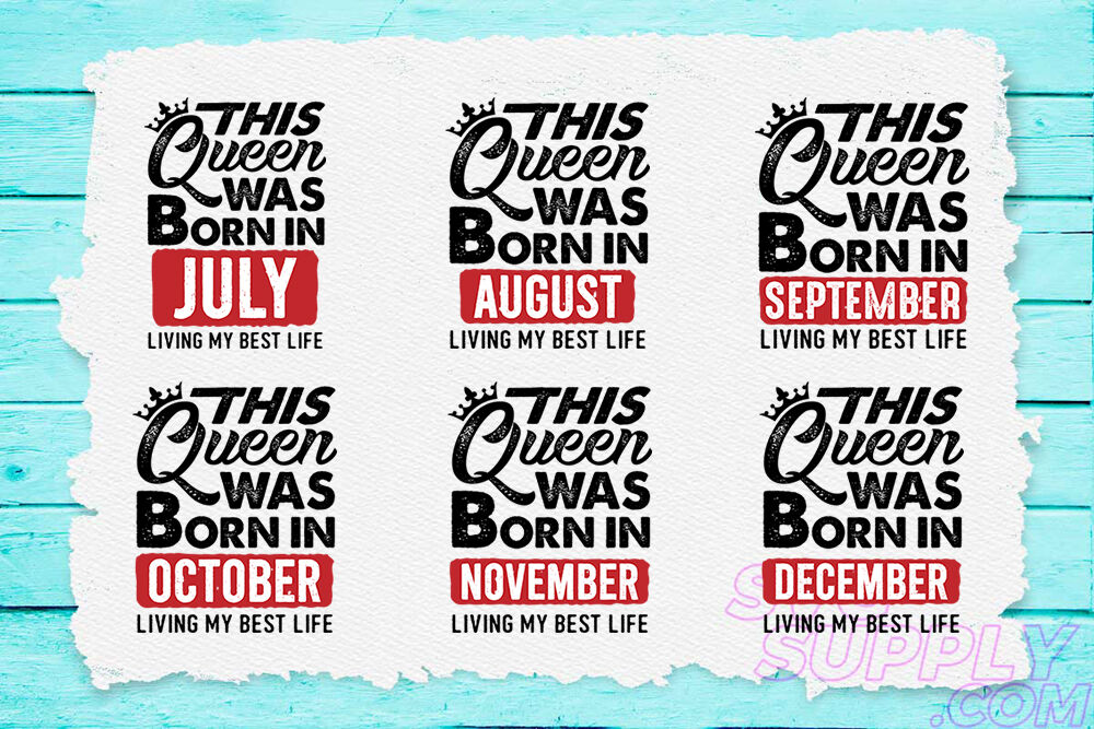 This Queen Are Born Svg Bundle By Cuttingsvg Thehungryjpeg Com
