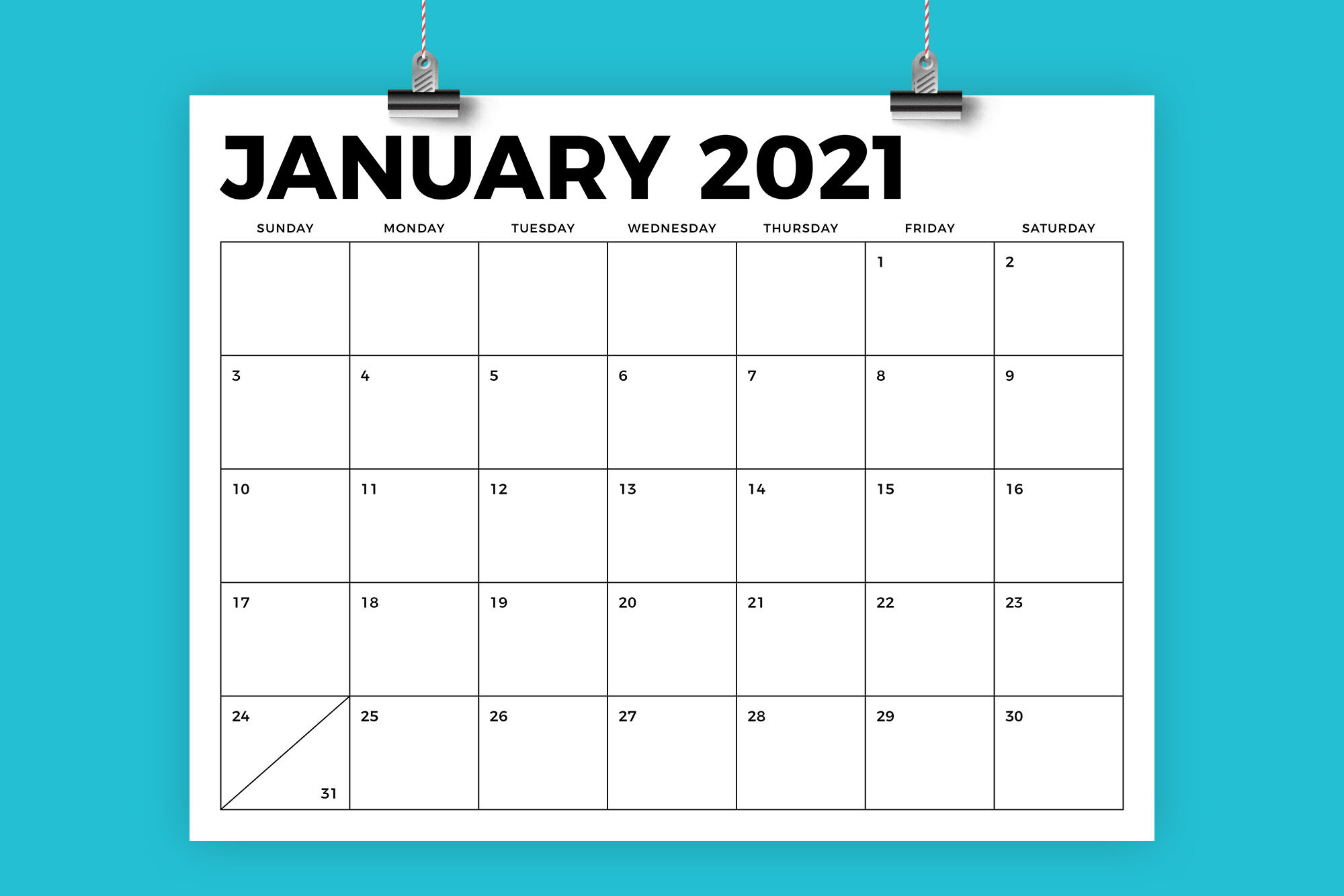 2021 Calendar 8.5 X 11 8.5 x 11 Inch Bold 2021 Calendar By Running With Foxes