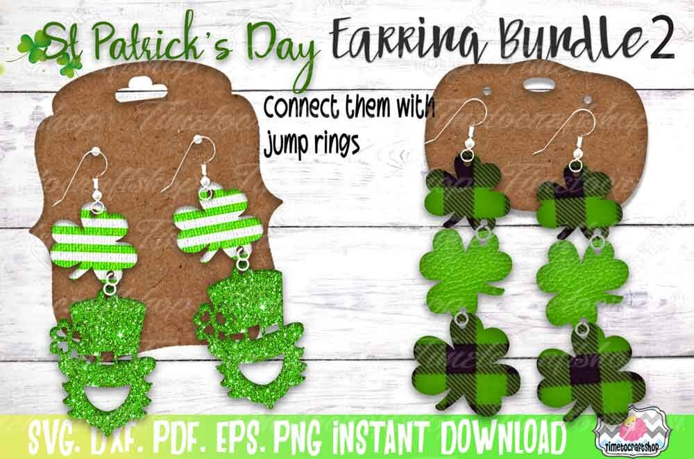 Svg Dxf Pdf Png And Eps St Patrick S Day Earring Bundle 2