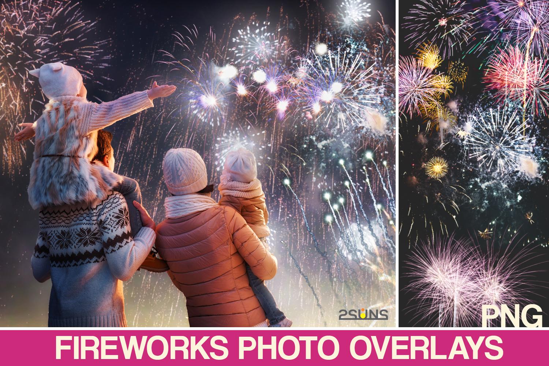 37 Fireworks Overlay Photoshop Overlay Christmas Sparkle By