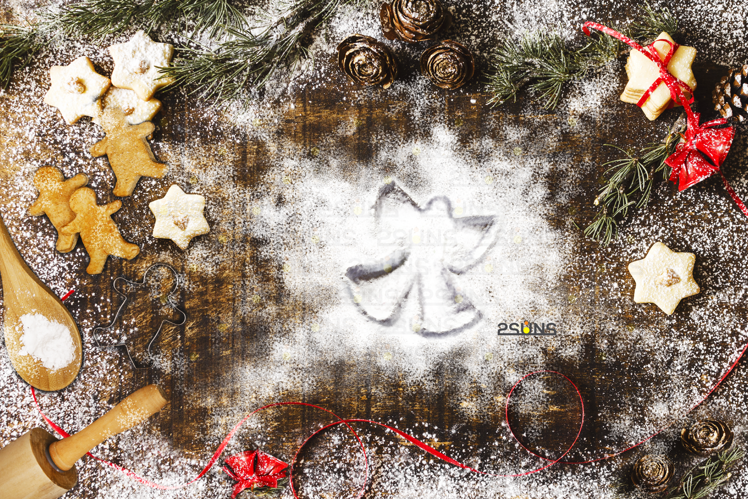 Snow Angel And Baking Flat Backdrop Photoshop Overlay By 2suns