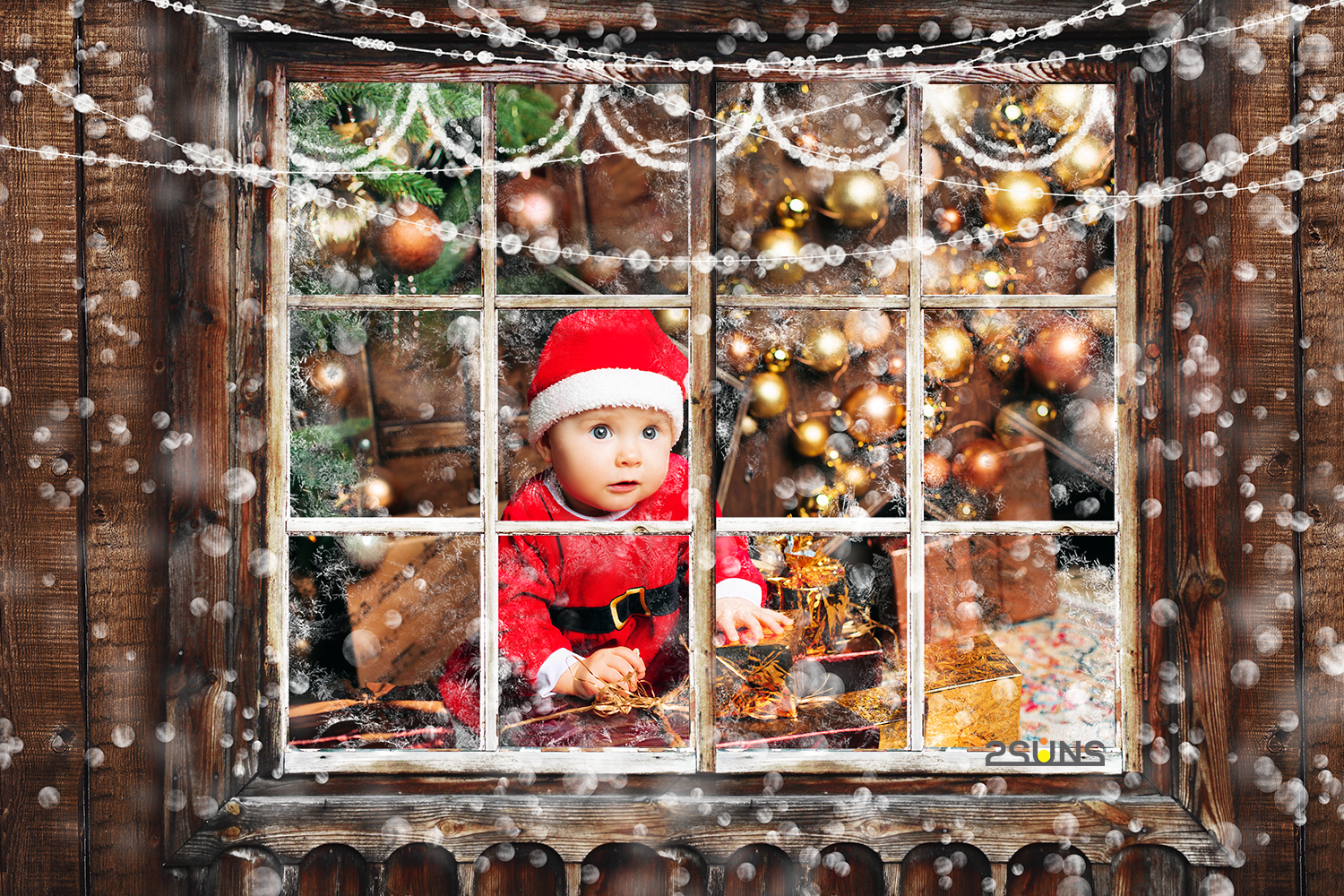 Christmas Overlays Photoshop Overlay Window Frame Frosted Glass